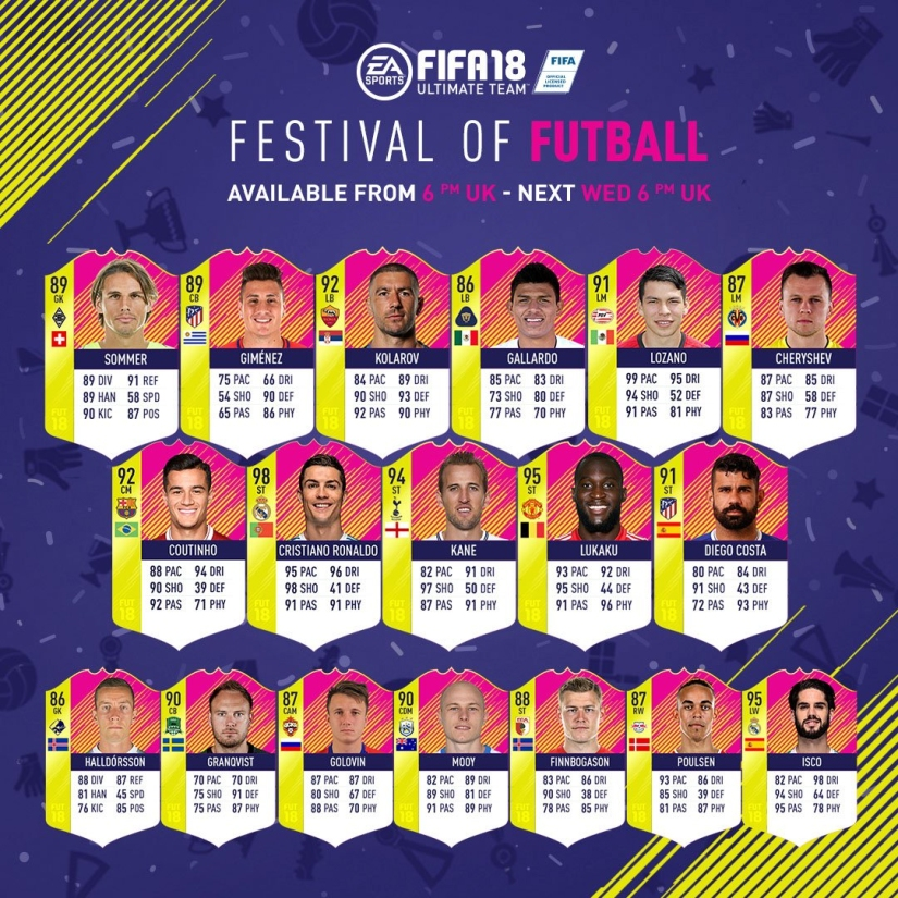 festival of futball team of the matchday 1