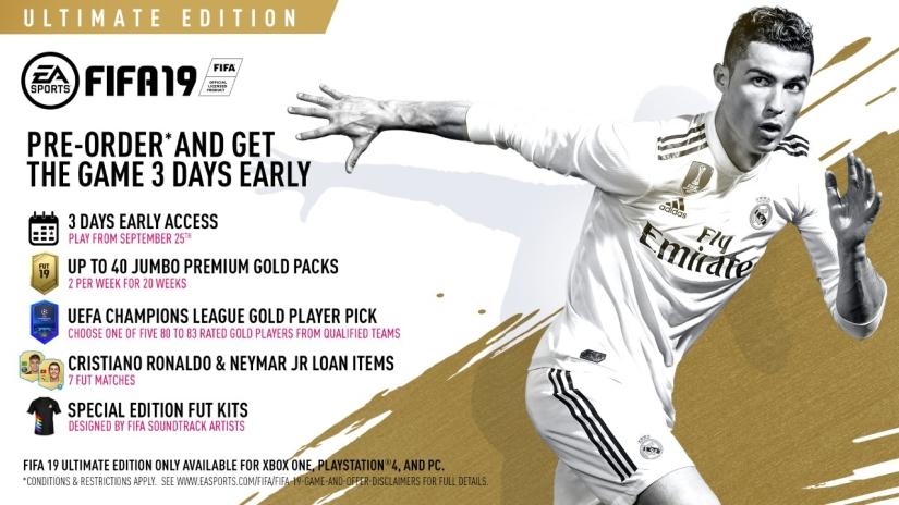 FIFA 19 PRE ORDER ULTIMATE EDITION QUICKSTOPHICKS YOUTUBE