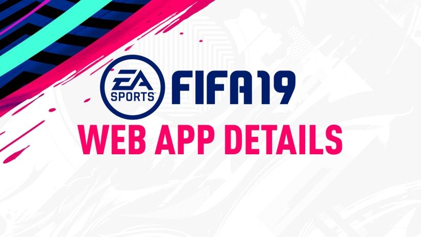 FIFA 19 WEB APP LAUNCH DETAILS FIFA 19 COMPANION APP