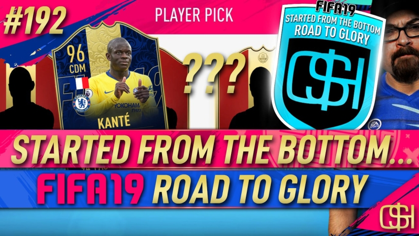 FIFA 19 ROAD TO GLORY FIFA 19 ULTIMATE TEAM QUICKSTOPHICKS FIFA 19 RTG EPISODE 192 TOTS PACKS TOTY KANTE