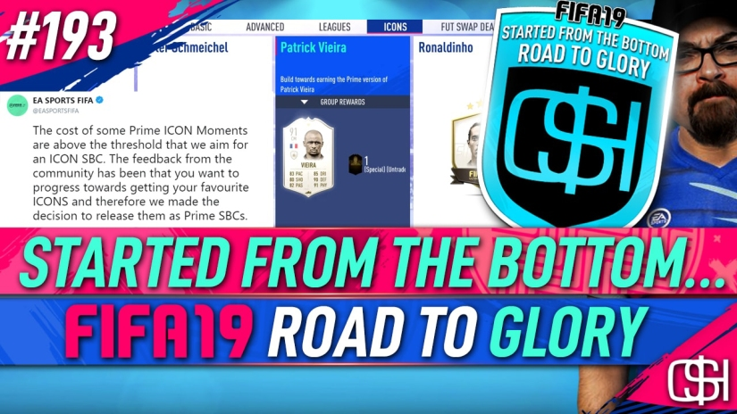 FIFA 19 ROAD TO GLORY FIFA 19 ULTIMATE TEAM QUICKSTOPHICKS FIFA 19 RTG EPISODE 193 NO MORE ICON SBC'S FIFA 19