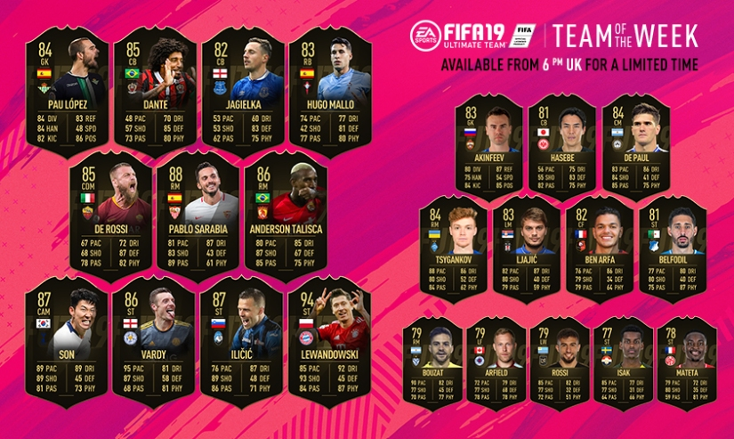 FIFA 19 TEAM OF THE WEEK 30 TOTW QUICKSTOPHICKS FUTBIN FUTWIZ FUTHEAD 1 FIFA REDDIT