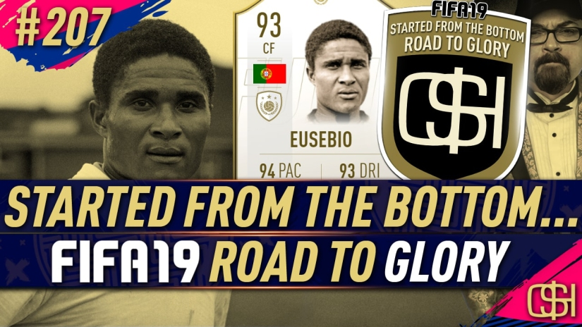 FIFA 19 ROAD TO GLORY FIFA 19 ULTIMATE TEAM QUICKSTOPHICKS FIFA 19 RTG EPISODE 207 93 EUSEBIO PRIME MOMENTS ICON