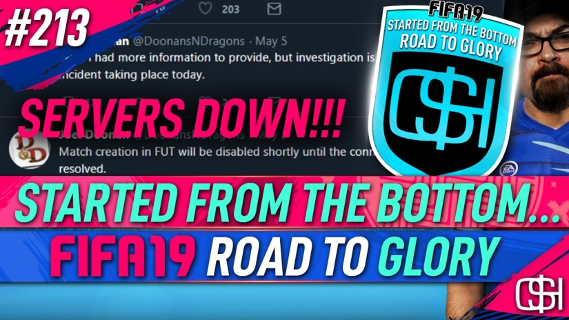 FIFA 19 ROAD TO GLORY FIFA 19 ULTIMATE TEAM QUICKSTOPHICKS FIFA 19 RTG EPISODE 213 EA SERVERS DOWN