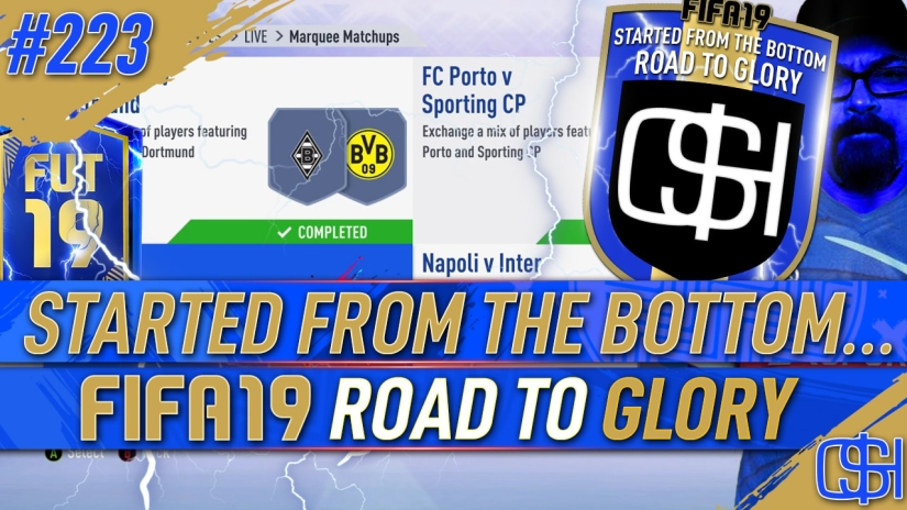 FIFA 19 ROAD TO GLORY FIFA 19 ULTIMATE TEAM QUICKSTOPHICKS FIFA 19 RTG EPISODE 223 GUARANTEED TOTS FUT CHAMPIONS REWARDS