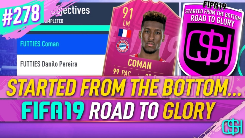 FIFA 19 ROAD TO GLORY FIFA 19 ULTIMATE TEAM QUICKSTOPHICKS FIFA 19 RTG EPISODE 278 FUTTIES WINNER COMAN FIFA 20 YOUTUBE