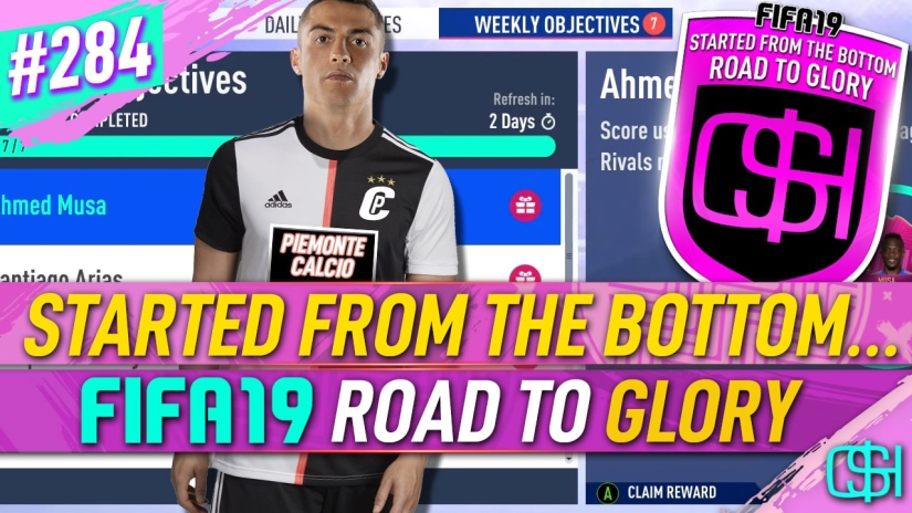 FIFA 19 ROAD TO GLORY FIFA 19 ULTIMATE TEAM QUICKSTOPHICKS FIFA 19 RTG EPISODE 284 PIEMONTE CALCIO JUVENTUS FIFA 20 YOUTUBE