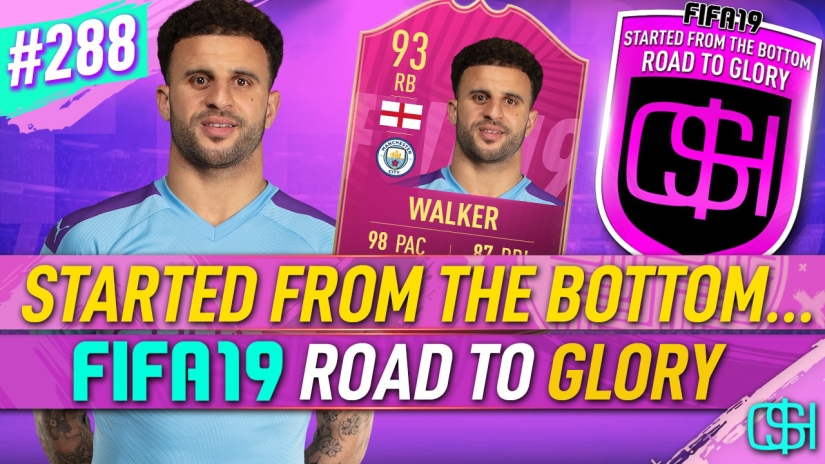FIFA 19 ROAD TO GLORY FIFA 19 ULTIMATE TEAM QUICKSTOPHICKS FIFA 19 RTG EPISODE 288 FUTTIES WINNER KYLE WALKER FIFA 20 YOUTUBE