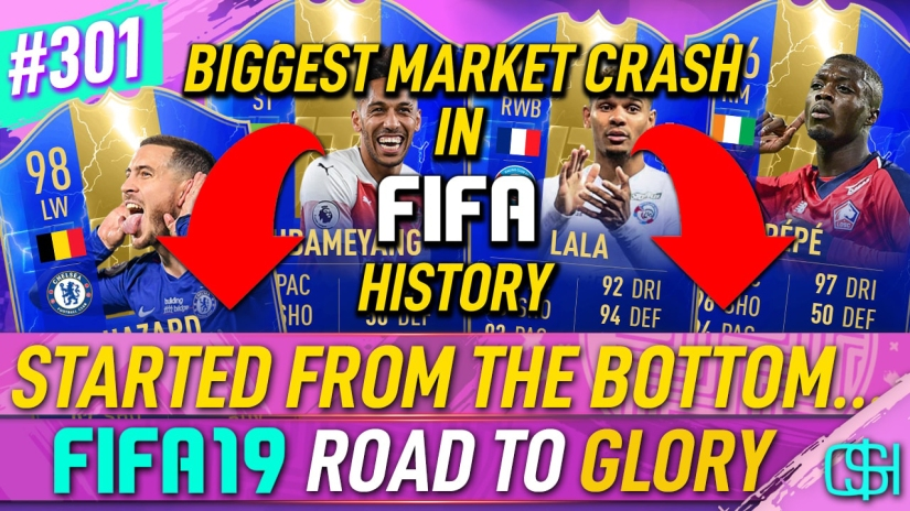 FIFA 19 ROAD TO GLORY FIFA 19 ULTIMATE TEAM QUICKSTOPHICKS FIFA 19 RTG EPISODE 301 BIGGEST MARKET CRASH IN FIFA HISTORY