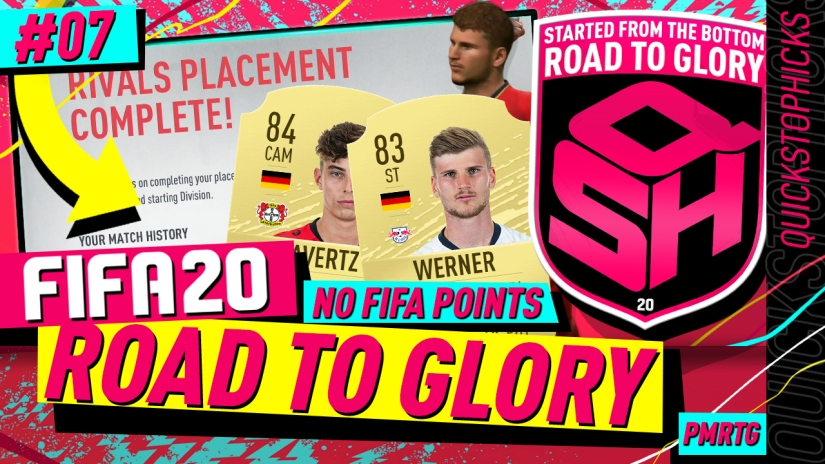 FIFA 20 ROAD TO GLORY YOUTUBE VIDEO FIFA 20 ULTIMATE TEAM ROAD TO GLORY EPISODE 7 QUICKSTOPHICKS WERNER HAVERTZ REVIEW DIVISION RIVALS PLACEMENT