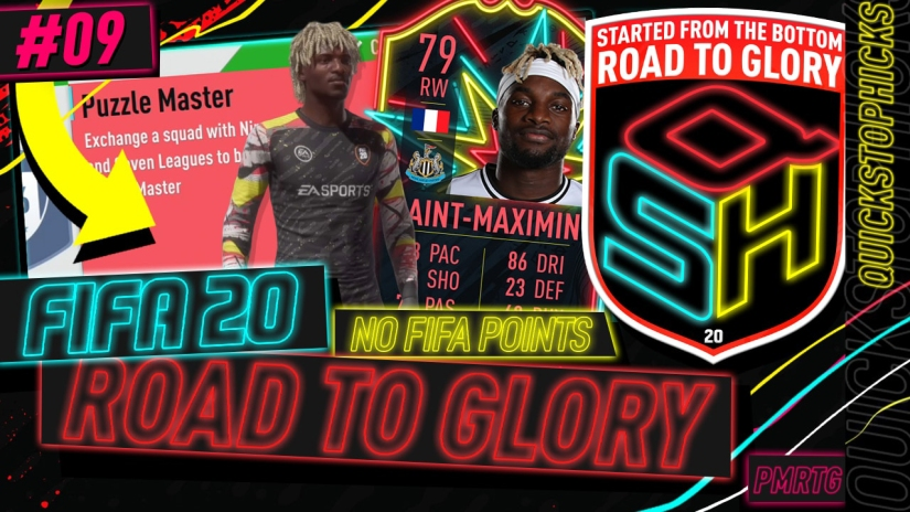 FIFA 20 ROAD TO GLORY YOUTUBE VIDEO FIFA 20 ULTIMATE TEAM ROAD TO GLORY EPISODE 9 QUICKSTOPHICKS ONES TO WATCH SAINT MAXIMIN LEAGUE AND NATION HYBRID SBC COMPLETED