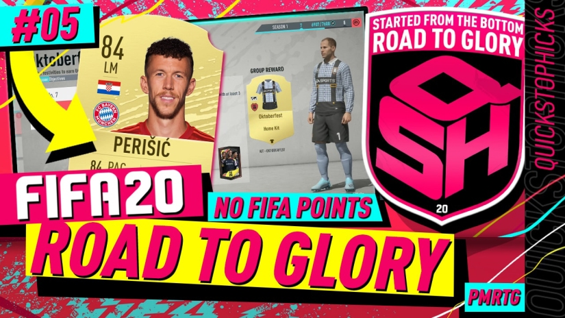 FIFA 20 ROAD TO GLORY YOUTUBE VIDEO FIFA 20 ULTIMATE TEAM ROAD TO GLORY EPISODE QUICKSTOPHICKS EPISODE 5 OKTOBER FEST KIT PERISIC REVIEW