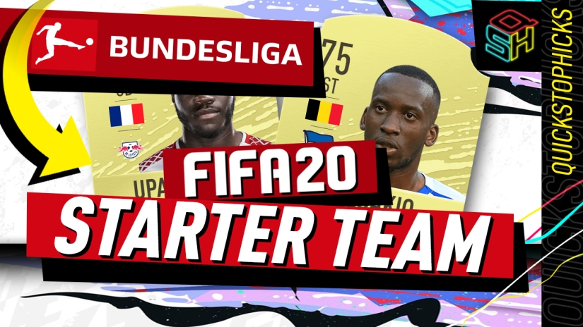 FIFA 20 ULTIMATE TEAM BUNDESLIGA STARTER TEAM YOUTUBE QUICKSTOPHICKS SQUAD BUILDER