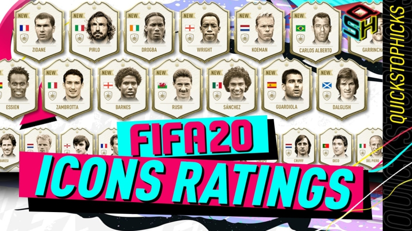 FIFA 20 ULTIMATE TEAM ICONS RATINGS