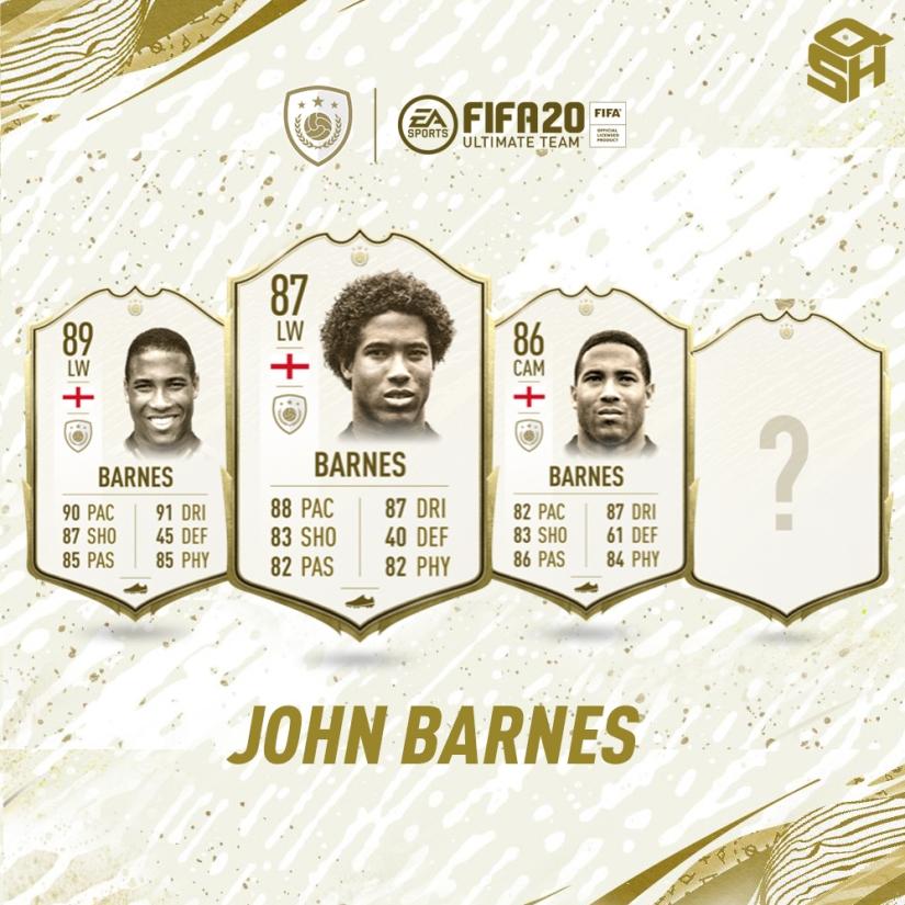 FIFA 20 ULTIMATE TEAM JOHN BARNES ICON
