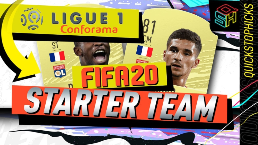 FIFA 20 ULTIMATE TEAM LIGUE ONE LIGUE 1 STARTER TEAM YOUTUBE QUICKSTOPHICKS SQUAD BUILDER