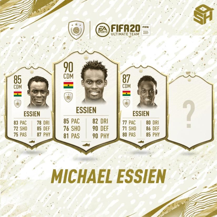 FIFA 20 ULTIMATE TEAM MICHAEL ESSIEN ICON