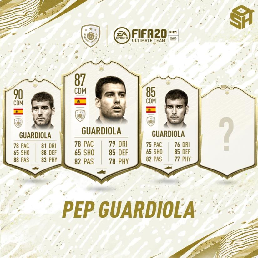 FIFA 20 ULTIMATE TEAM PEP GUARDIOLA ICON