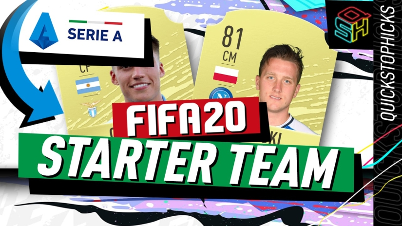 FIFA 20 ULTIMATE TEAM SERIE A STARTER TEAM YOUTUBE QUICKSTOPHICKS SQUAD BUILDER