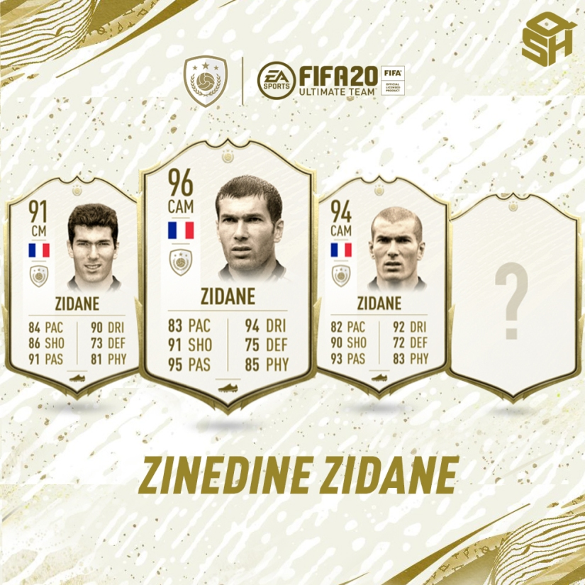 FIFA 20 ULTIMATE TEAM ZINEDINE ZIDANE ICON