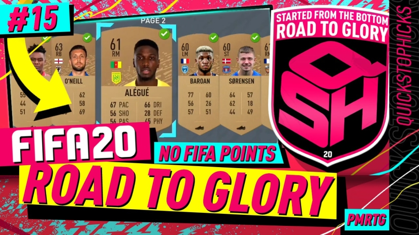 FIFA 20 ROAD TO GLORY YOUTUBE VIDEO FIFA 20 ULTIMATE TEAM ROAD TO GLORY EPISODE 15 QUICKSTOPHICKS INSANE BRONZE PACK METHOD BPM