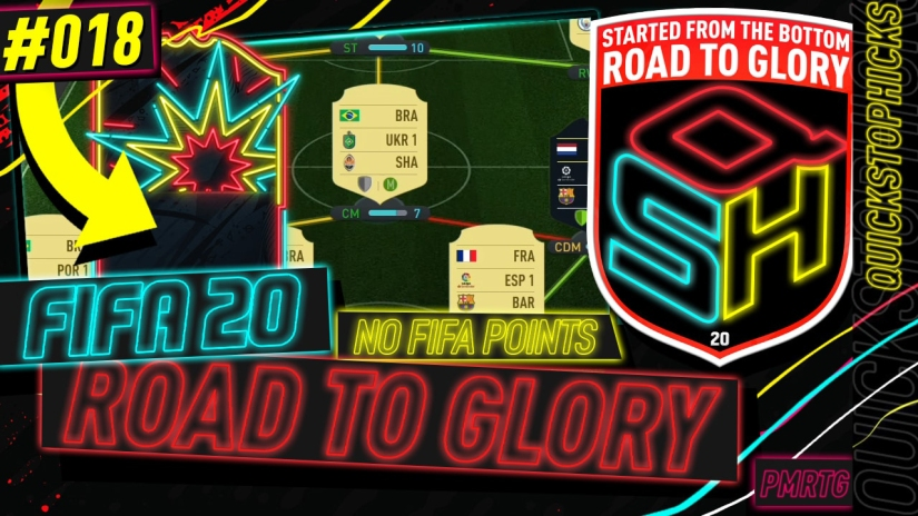 FIFA 20 ROAD TO GLORY YOUTUBE VIDEO FIFA 20 ULTIMATE TEAM ROAD TO GLORY EPISODE 18 QUICKSTOPHICKS RIVALS REWARDS HUGE PLAYER PACKED FUT CHAMPIONS