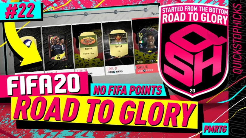 FIFA 20 ROAD TO GLORY YOUTUBE VIDEO FIFA 20 ULTIMATE TEAM ROAD TO GLORY EPISODE 22 QUICKSTOPHICKS SEASON OBJECTIVES NEED FIXING