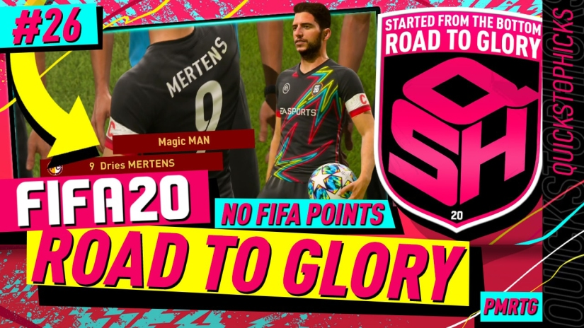 FIFA 20 ROAD TO GLORY YOUTUBE VIDEO FIFA 20 ULTIMATE TEAM ROAD TO GLORY EPISODE 26 QUICKSTOPHICKS TOP 100 FUT CHAMPIONS DRIES MERTENS FIFA 20 REVIEW