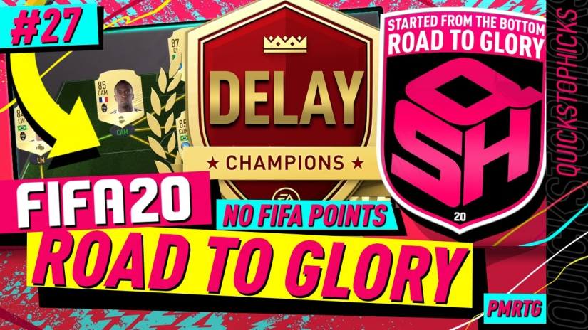 FIFA 20 ROAD TO GLORY YOUTUBE VIDEO FIFA 20 ULTIMATE TEAM ROAD TO GLORY EPISODE 27 QUICKSTOPHICKS FUT CHAMPIONS DELAY BUTTO RESPONSIVENESS LAG
