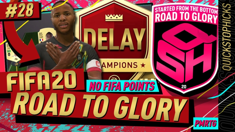 FIFA 20 ROAD TO GLORY YOUTUBE VIDEO FIFA 20 ULTIMATE TEAM ROAD TO GLORY EPISODE 28 QUICKSTOPHICKS FUT CHAMPIONS DELAY BUTTON RESPONSIVENESS LAG