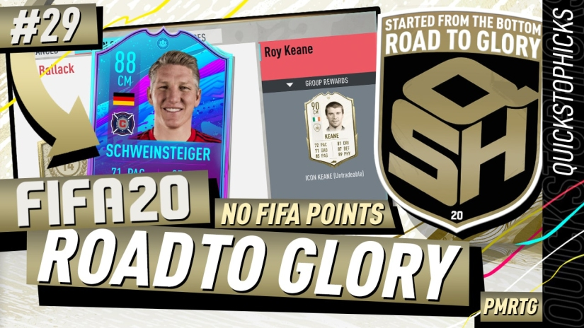 FIFA 20 ROAD TO GLORY YOUTUBE VIDEO FIFA 20 ULTIMATE TEAM ROAD TO GLORY EPISODE 29 QUICKSTOPHICKS ICON SWAPS FIFA 20