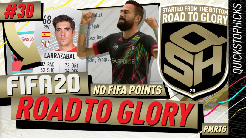 FIFA 20 ROAD TO GLORY YOUTUBE VIDEO FIFA 20 ULTIMATE TEAM ROAD TO GLORY EPISODE 30 QUICKSTOPHICKS GOLD OBJECTIVES COMPLETED