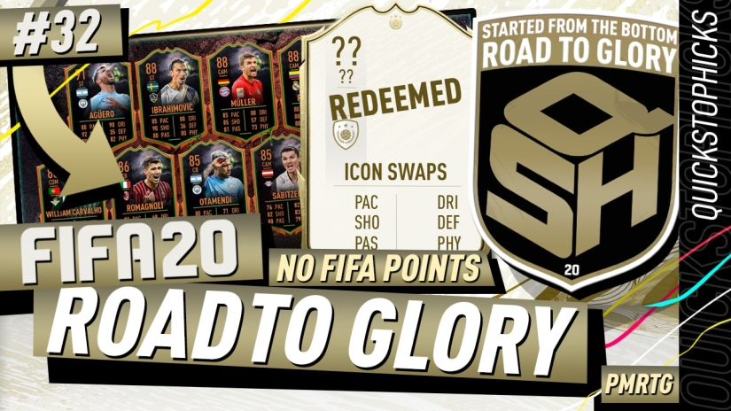 FIFA 20 ROAD TO GLORY YOUTUBE VIDEO FIFA 20 ULTIMATE TEAM ROAD TO GLORY EPISODE 32 QUICKSTOPHICKS ICON SWAPS ULTIMATE SCREAM FIFA 20