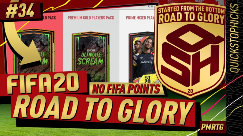 FIFA 20 ROAD TO GLORY YOUTUBE VIDEO FIFA 20 ULTIMATE TEAM ROAD TO GLORY EPISODE 34 QUICKSTOPHICKS ICON SWAPS ULTIMATE SCREAM FIFA 20 FUT CHAMPIONS