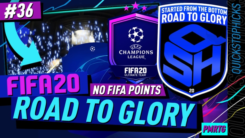 FIFA 20 ROAD TO GLORY YOUTUBE VIDEO FIFA 20 ULTIMATE TEAM ROAD TO GLORY EPISODE 36 QUICKSTOPHICKS CHAMPIONS LEAGUE UCL CARDS FIFA 20
