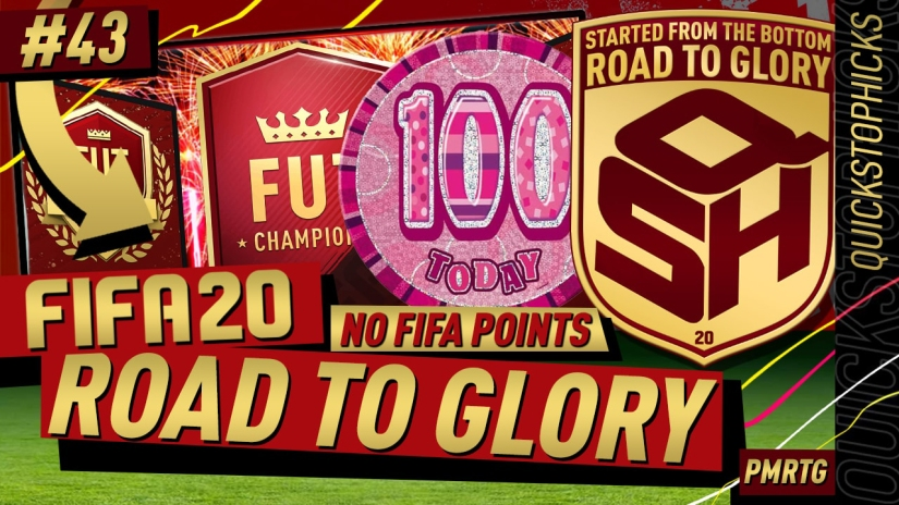 FIFA 20 ROAD TO GLORY YOUTUBE VIDEO FIFA 20 ULTIMATE TEAM ROAD TO GLORY EPISODE 43 QUICKSTOPHICKS fut champions top 100 REWARDS
