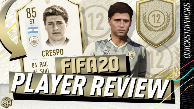 FIFA 20 ULTIMATE TEAM 85 HERNAN CRESPO REVIEW PLAYER REVIEW FIFA 20 ICON SWAPS FIFA 20