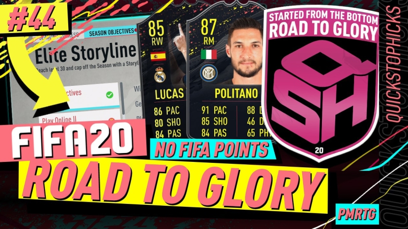 FIFA 20 ROAD TO GLORY YOUTUBE VIDEO FIFA 20 ULTIMATE TEAM ROAD TO GLORY EPISODE 44 QUICKSTOPHICKS ELITE STORYLINE OBJECTIVES PROGRESSION VAZQUEZ ZAHA