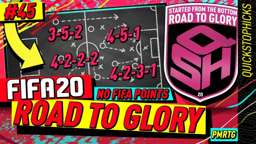 FIFA 20 ROAD TO GLORY YOUTUBE VIDEO FIFA 20 ULTIMATE TEAM ROAD TO GLORY EPISODE 45 QUICKSTOPHICKS PRO CUSTOM TACTICS FORMATION