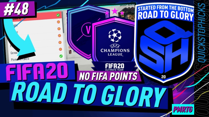 FIFA 20 ROAD TO GLORY YOUTUBE VIDEO FIFA 20 ULTIMATE TEAM ROAD TO GLORY EPISODE 48 QUICKSTOPHICKS UEFA MARQUEE MATCHUPS AND UCL SBC