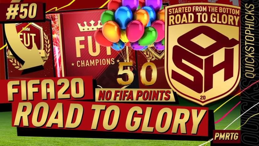 FIFA 20 ROAD TO GLORY YOUTUBE VIDEO FIFA 20 ULTIMATE TEAM ROAD TO GLORY EPISODE 50 QUICKSTOPHICKS fut champions top 100 REWARDS