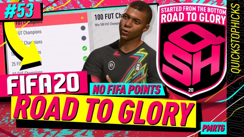 FIFA 20 ROAD TO GLORY YOUTUBE VIDEO FIFA 20 ULTIMATE TEAM ROAD TO GLORY EPISODE 53 QUICKSTOPHICKS TOTY INFORM MBAPPE FIFA 20