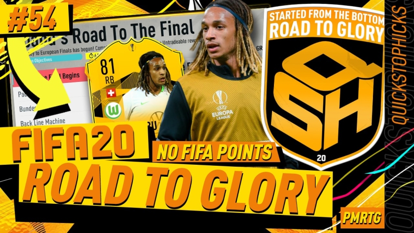 FIFA 20 ROAD TO GLORY YOUTUBE VIDEO FIFA 20 ULTIMATE TEAM ROAD TO GLORY EPISODE 54 QUICKSTOPHICKS EUROPA LEAGUE MBABU ROAD TO THE FINAL RTTF CARD FIFA 20