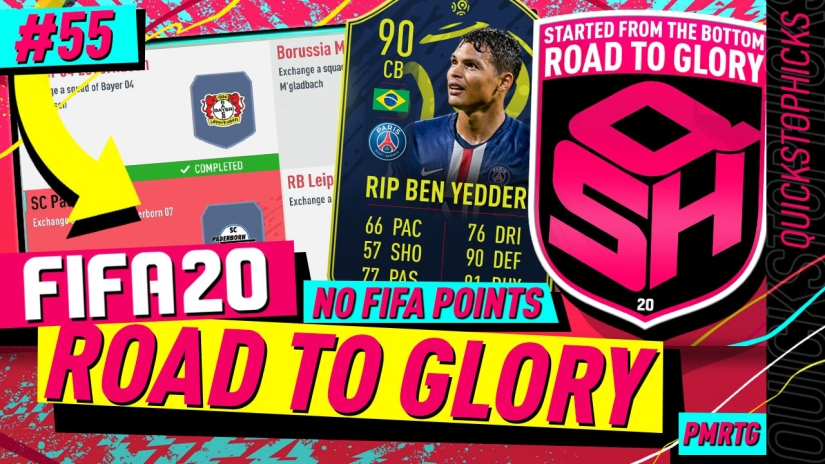 FIFA 20 ROAD TO GLORY YOUTUBE VIDEO FIFA 20 ULTIMATE TEAM ROAD TO GLORY EPISODE 55 QUICKSTOPHICKS THIAGO SILVA LIGUE 1 POTM FIFA 20
