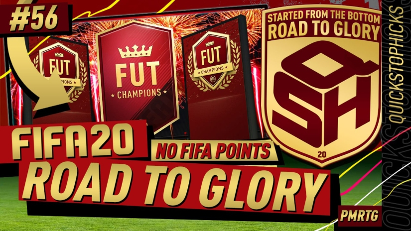 FIFA 20 ROAD TO GLORY YOUTUBE VIDEO FIFA 20 ULTIMATE TEAM ROAD TO GLORY EPISODE 56 QUICKSTOPHICKS TOP 100 FUT CHAMPIONS PRO CUSTOM TACTICS FORMATION