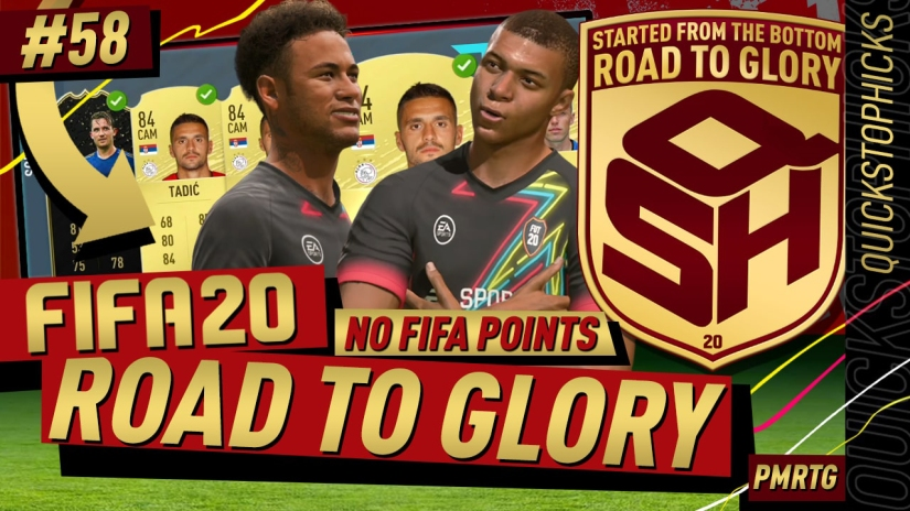 FIFA 20 ROAD TO GLORY YOUTUBE VIDEO FIFA 20 ULTIMATE TEAM ROAD TO GLORY EPISODE 58 QUICKSTOPHICKS TOP 100 FUT CHAMPIONS PRO CUSTOM TACTICS FORMATION