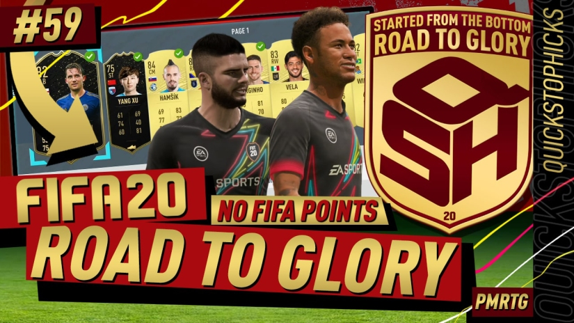 FIFA 20 ROAD TO GLORY YOUTUBE VIDEO FIFA 20 ULTIMATE TEAM ROAD TO GLORY EPISODE 59 QUICKSTOPHICKS TOP 100 FUT CHAMPIONS PRO DROP BACK CUSTOM TACTICS FORMATION