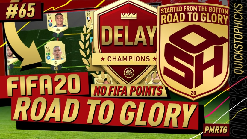 FIFA 20 ROAD TO GLORY YOUTUBE VIDEO FIFA 20 ULTIMATE TEAM ROAD TO GLORY EPISODE 65 FUT CHAMPIONS DELAY BLACK MARKET CARSH