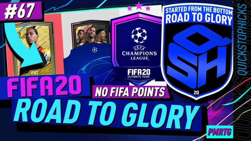 FIFA 20 ROAD TO GLORY YOUTUBE VIDEO FIFA 20 ULTIMATE TEAM ROAD TO GLORY EPISODE 67 QUICKSTOPHICKS UCL UPGRADE PACKS