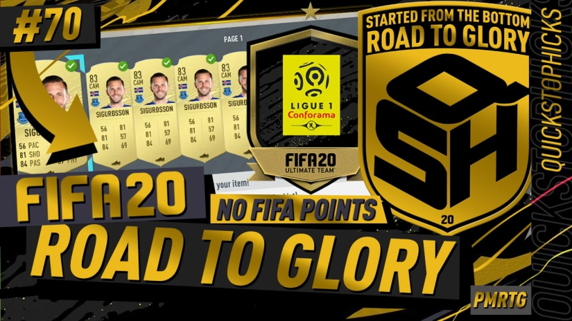 FIFA 20 ROAD TO GLORY YOUTUBE VIDEO FIFA 20 ULTIMATE TEAM ROAD TO GLORY EPISODE 70 QUICKSTOPHICKS BLACK FRIDAY LEAGUE UPGRADE PACKS